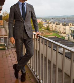 """paul-lux: """" Bespoke @sartoriaripense suit and tie and @carminashoemaker suede shoes"""