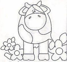 Vaquinha e flor