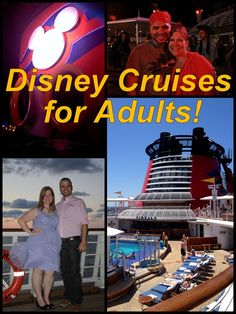 Disney Cruises for Adults, email heather@travelwiththemagic.com for a quote!