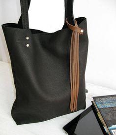 SALE NEW lower price Tote bag Black leather tote Soft  0d68e117f6d5