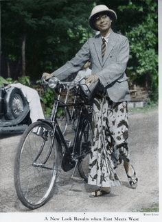Mr. Abtenar, 1948. When East meets West fashion style.