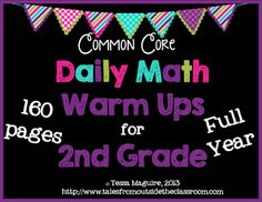A 40 page packet of math warm up activities. Each page has 5 different skills. It is aligned to the grade Common Core math standards. 3rd Grade Classroom, Classroom Freebies, Math Classroom, Classroom Ideas, Future Classroom, Classroom Organization, Classroom Routines, Classroom Crafts, Classroom Inspiration