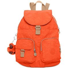 Kipling Firefly Backpack ($70) ❤ liked on Polyvore featuring bags, backpacks, imperial orange, backpack bag, kipling bags, orange backpack, lightweight daypack and rucksack bag