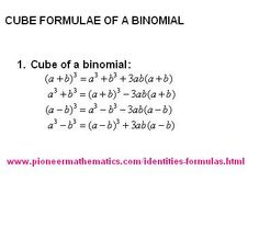 cube formula of a binomial math formulas pioneer mathematics