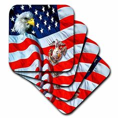 US Marines  US Marines  set of 4 Ceramic Tile Coasters cst_768_3 >>> See this great product. (This is an affiliate link)