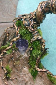 detail - Blue Moon in October Wall Sculpture by Marshall Mar (via EarthlyCreature on Etsy)