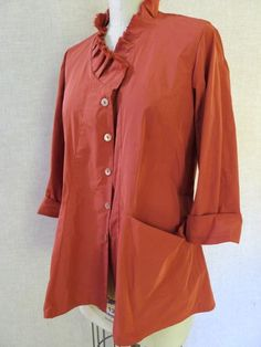 Vogue 8709. Marci Tilton's own variation on her pattern, in taffeta, with lowered neckline and selvedge randomly pleated collar piece.