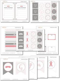 Breast Cancer Awareness Free Printables // #PinkOut for October - #BreastCancerAwarenessMonth