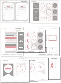 Breast Cancer Awareness Free Printables // #PinkOut for October - #BreastCancerAwarenessMonth