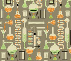 Chemistry Alphabet fabric by melisza for sale on Spoonflower - custom fabric, wallpaper and wall decals