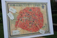 Paris Map Wedding Table Plan - notonthehighstreet.com