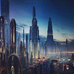 Almost look like Corusant of the Galactic Republic Capital City.