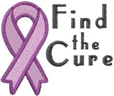 Awareness Ribbon Embroidery Pattern | ... Embroidery Design: Find the Cure from Machine Embroidery Designs