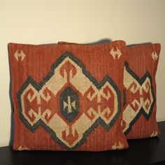 Tribal Indo Kilim Red/Beige/Black Pillows (Set of Two) - Overstock™ Shopping - Great Deals on Throw Pillows