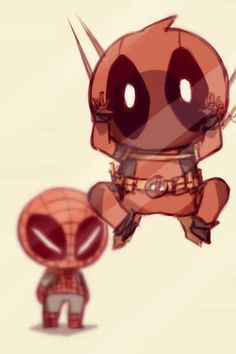 Deadpool and Spiderman wallpaper