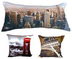 Cojines y almohadas con fotos de ciudades Photo Pillows, Cushions, Throw Pillows, Business, Bed, Accent Pillows, Blinds, Houses, Home