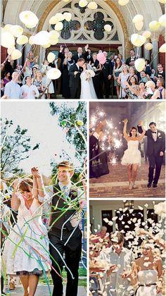 Ideas para una memorable salida después de la ceremonia, ¡el mejor momento para la foto del recuerdo! Pregunta por el reglamento de la iglesia donde te vayas a casar.