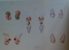 Selection of designs by Suzanne Belperron for the Duchess of Windsor. Designs I - III were ordered and executed for the Duchess in 1968.