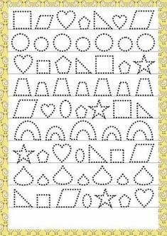 Trace the Dotted Lines Worksheets for Kids - Preschool and Kindergarten Preschool Writing, Preschool Learning, Teaching Kids, Kindergarten Activities, Early Learning, Tracing Worksheets, Alphabet Worksheets, Kindergarten Worksheets, Pre Writing