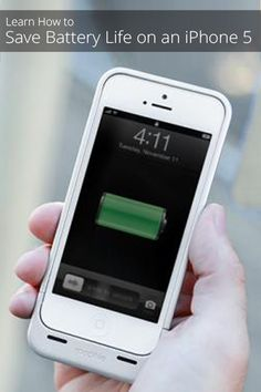How to Save Battery Life in an iPhone 5