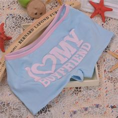 Women Cotton Boxer Panties Underwear Boyshort Pink Love Letter Breathable Panties Ladies Cozy Teenage Cotton Underwear