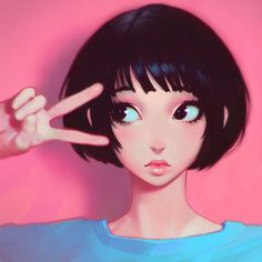 Original art from the amazing artist llya - This Illustrator from Russia Makes the Best Anime Avatars on the Internet