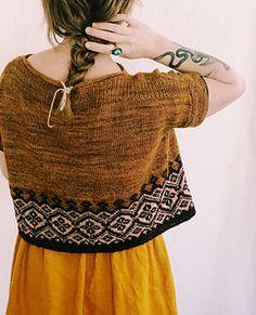Ravelry: Navelli pattern by Caitlin Hunter Summer Knitting, Fair Isle Knitting, Summer Sweaters, Knit Picks, Knit Or Crochet, Pulls, Ravelry, Knitwear, Knitting Patterns