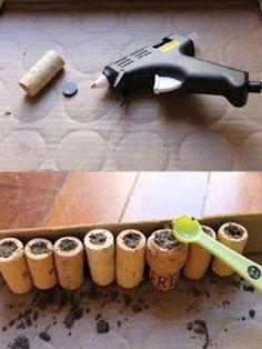 Manualidades con tapones de corcho: macetas