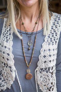 Cream Crochet Vest.