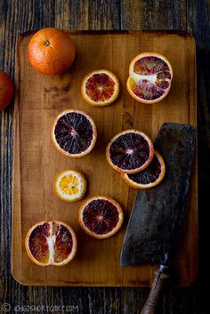 Blood oranges can come in a variety of colors also. We love palettes inspired by nature!