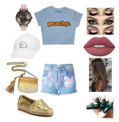 """""""Untitled #1590"""" by glamor234 on Polyvore featuring Forte Couture, Burberry, Gucci, Olivia Burton and Lime Crime"""