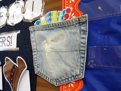 Pocket Stapled on Bulletin Board