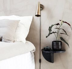 House Doctor Mega Sidobord Väggmonterat 18 x 36 x 18 cm Marmor Svart House Doctor Lampe, Black Wall Shelves, Marble Shelf, Design Tisch, Brown House, Black Walls, Black Marble, My New Room, Floating Nightstand