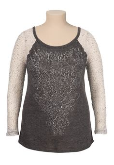 Maurices Premium plus size Rhinestone and Stud Embellished Top