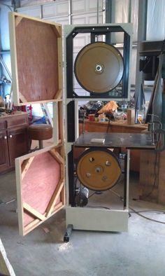 """Hello All, My name is Matthew and last year I made an 18"""" band saw from a treadmill, wood, steel, aluminum, and whatever else I could find laying"""
