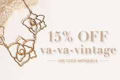 Vintage is always in fashion in some form or another and we've curated looks that will fit into any style - all at a bonus 15% off! Remember to use code ANTIQUE15 at checkout, pick a decade you're ga-ga for and start shopping!