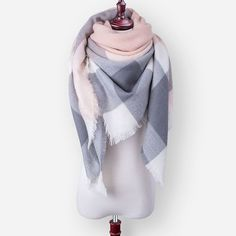 Za 2016 Luxury Brand Cashmere Winter Scarf For Women Scarf Wool Plaid Blanket Scarf Warm Pashmina Wrap Shawls and Scarves