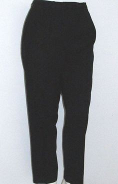 Black Wool Pants Size 14 Nordstrom Town Square Lined Pleated High Waist PERFECT #Nordstrom #DressPants