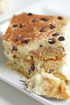 We'll never tire of tiramisu, especially when the classic Italian treat gets a bit of an American twist. Find a place on this weekend's menu for Chocolate Chip Cookie Dough Tiramisu from @Jocelyn (Grandbaby Cakes).