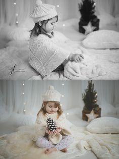 little girl , photography, christmas