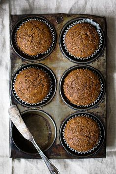 Healthy gingerbread muffins that are incredibly fluffy, warm and perfect with a cup of coffee. 134 calories per muffin!