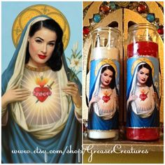 Our Lady of Glamour! Saint Dita Von Teese Prayer Candle The Patron by GreaserCreatures, $6.99