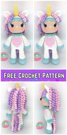 Crochet dolls 603341681316357194 - Crochet Unicorn Girl Doll Amigurumi Free Pattern Source by Crochet Unicorn Pattern Free, Crochet Whale, Doll Amigurumi Free Pattern, Crochet Amigurumi Free Patterns, Cute Crochet, Crochet For Kids, Amigurumi Doll, Crochet Tops, Knit Patterns
