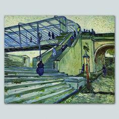 Tela Vincent van Gogh Il Ponte di Trinquetailles