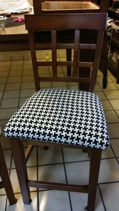Redone in houndstooth...much cuter!