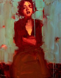 Green Fantasy - Michael Carson - Contemporary Artist - Figurative Painting