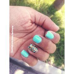 My new Teal nail color with leopard design....love it !! #SephoraNailSpotting #nails #teal #beauty #tealnails  —  instagram.com/mrivera