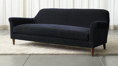 Cullen II Roll Arm Velvet Sofa | Crate and Barrel