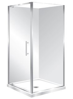 Features Low profile tray with 40mm upstand Tray is Centre Waste as standard but also available in Corner Waste. 1950mm high glass, 6mm safety glass Pivot Door  Modern 1-piece design which is reversible (flip to fit). One piece acrylic lining.  Available in Silva, White and Black
