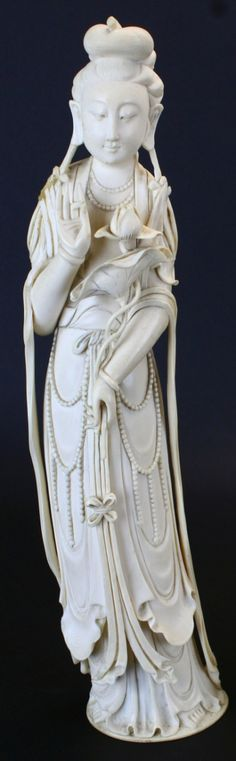 Guanyin Carved Ivory Statue